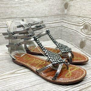 Sam Edelman embellished gladiator sandal